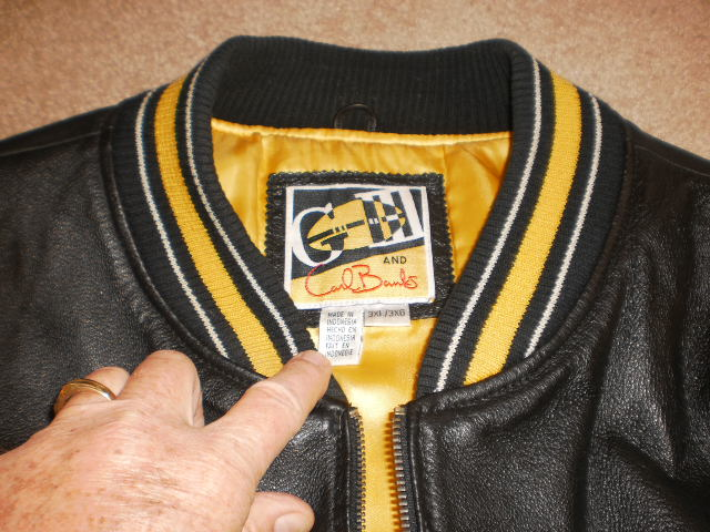 Pittsburgh Steelers Embroidered Leather G3 Carl Banks Bomber Jacket